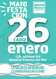 Manifestación: La salud es un derecho, la sanidad pública no se vende. Domingo 26 de enero a las 12