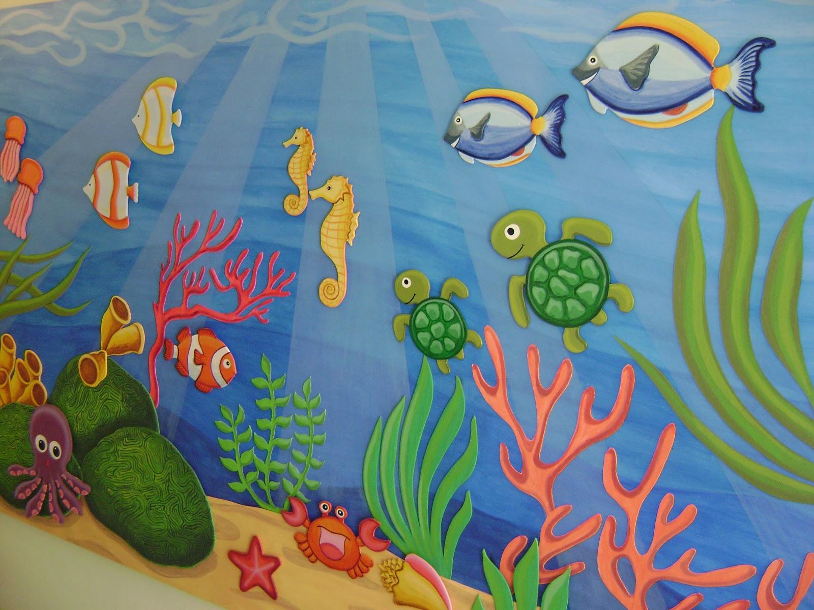 Decoracion jardin infantil for Jardines murales