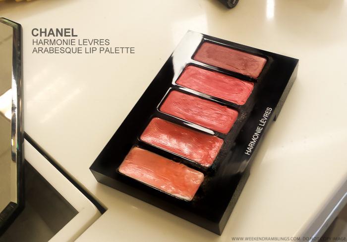 Chanel Harmonie Levres Arabesque Lip Palette - Swatches