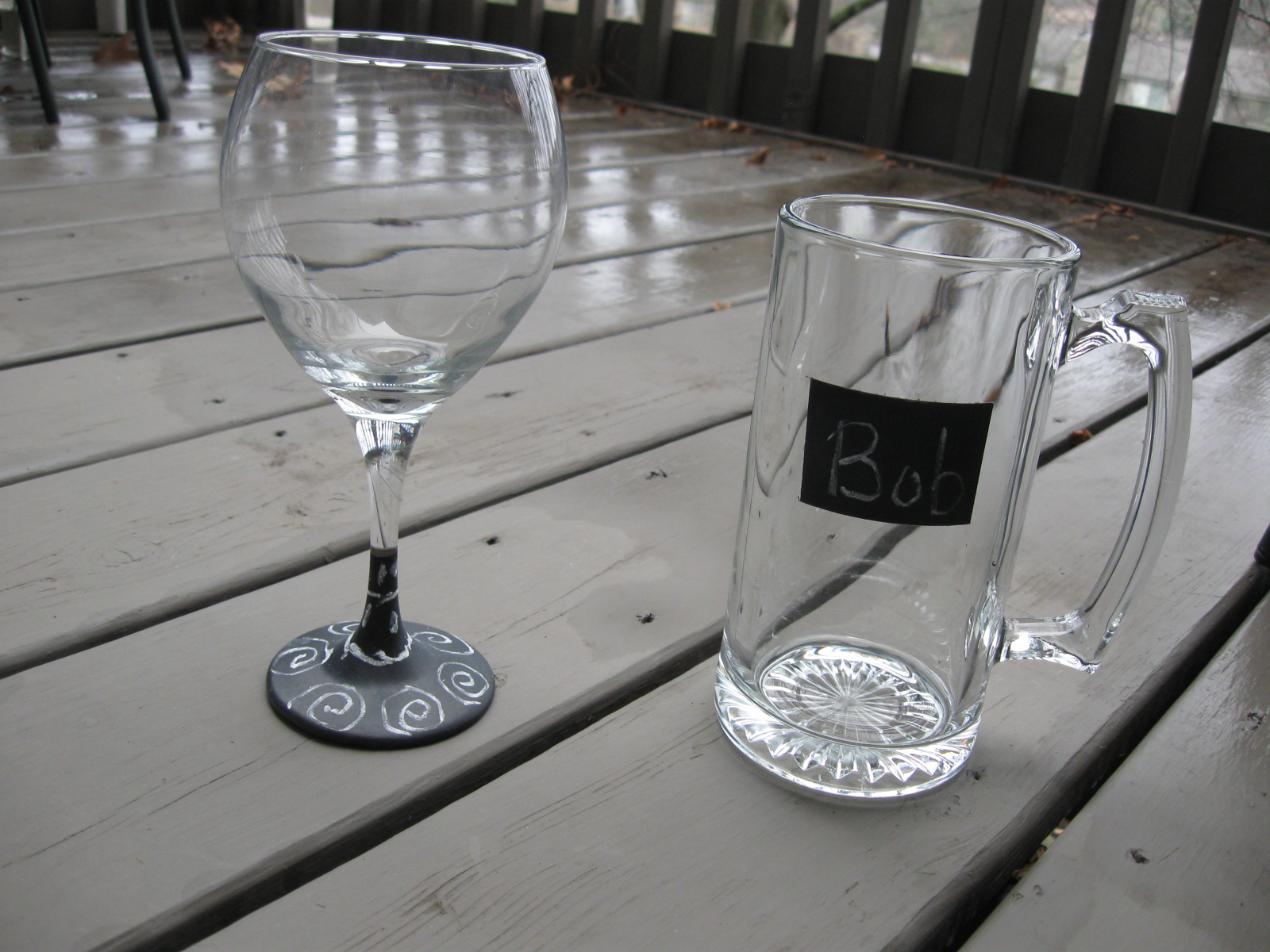 Craft klatch december 2012 for Wine glass painting tutorial