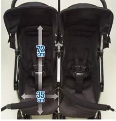 Xe đẩy đôi Combi Spazio Duo_3