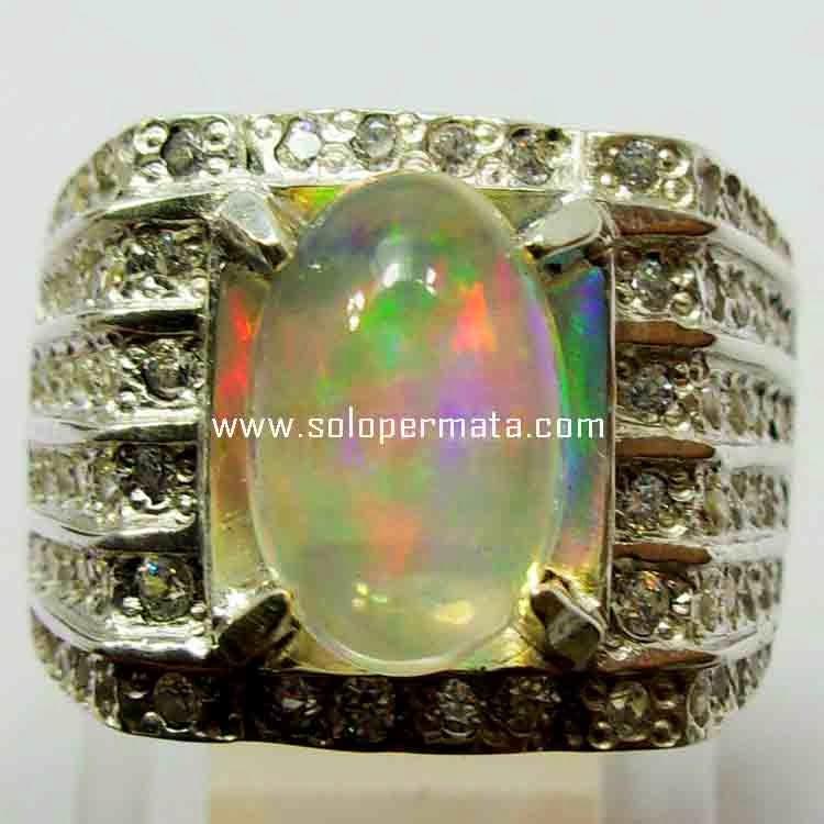 Cincin Batu Opal Kalimaya - 15B01
