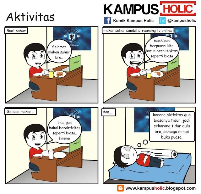 #214 Aktivitas mahasiswa komik kampus holic