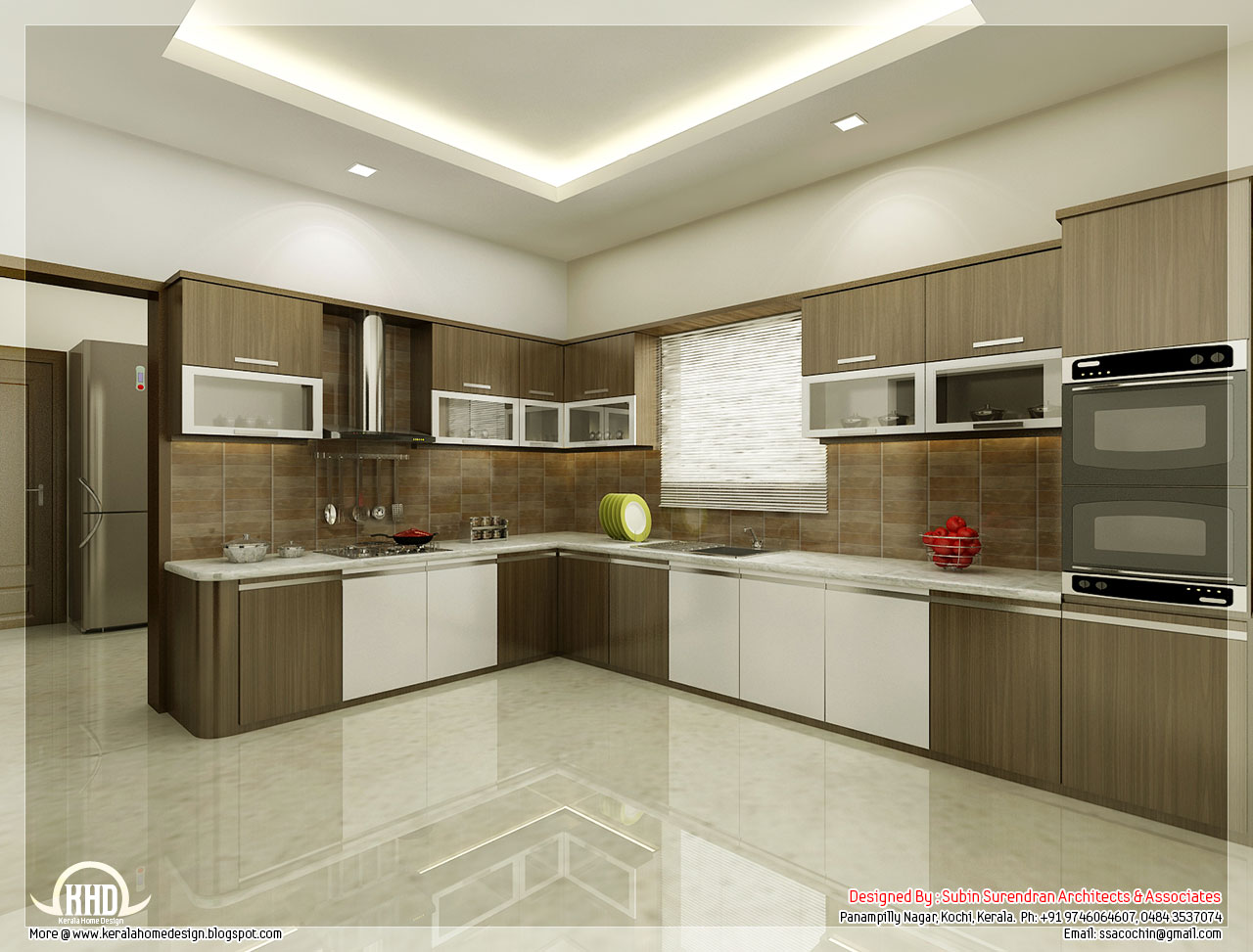 Kitchen and dining interiors - Kerala home design and floor plans