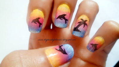 fashion crazy tropical island nails