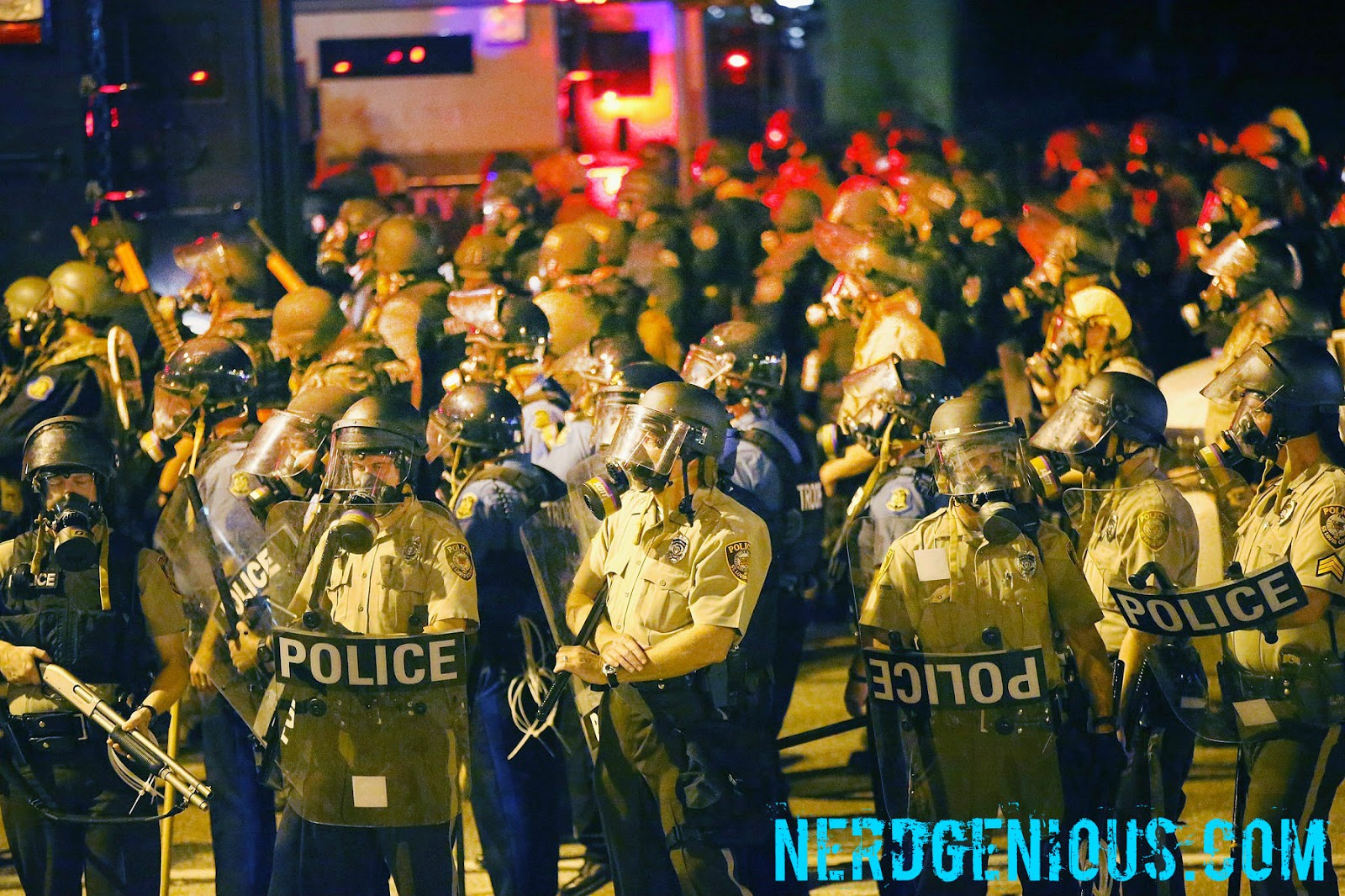 Missouri USA witnesses the full force of a fascist police state