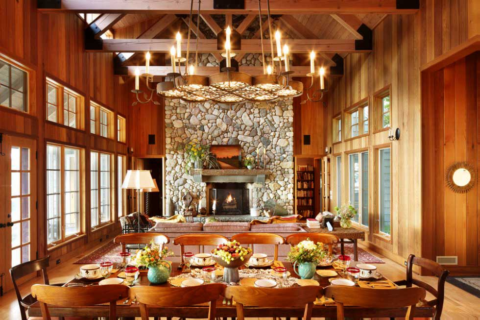 Wooden Dining Room Design With Wood Theme Of Home Make It Look So Gorgeous