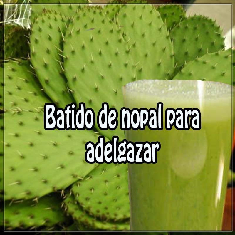 Bebidas para adelgazar,  recetas de batidos y licuados , depurativos, desintoxicantes , nopal