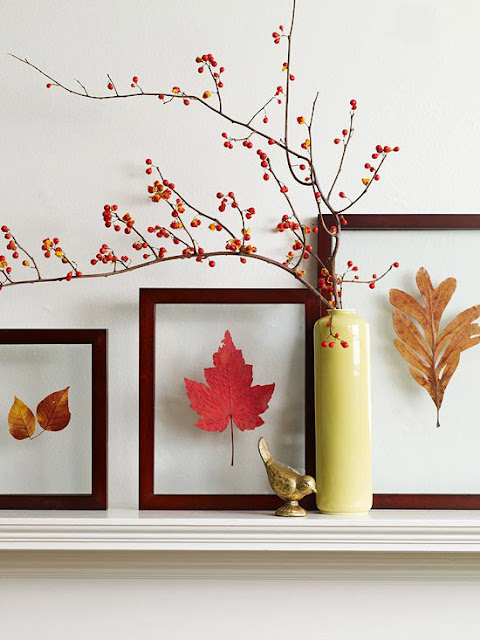 Be different act normal three simple fall mantel for Autumn leaf decoration