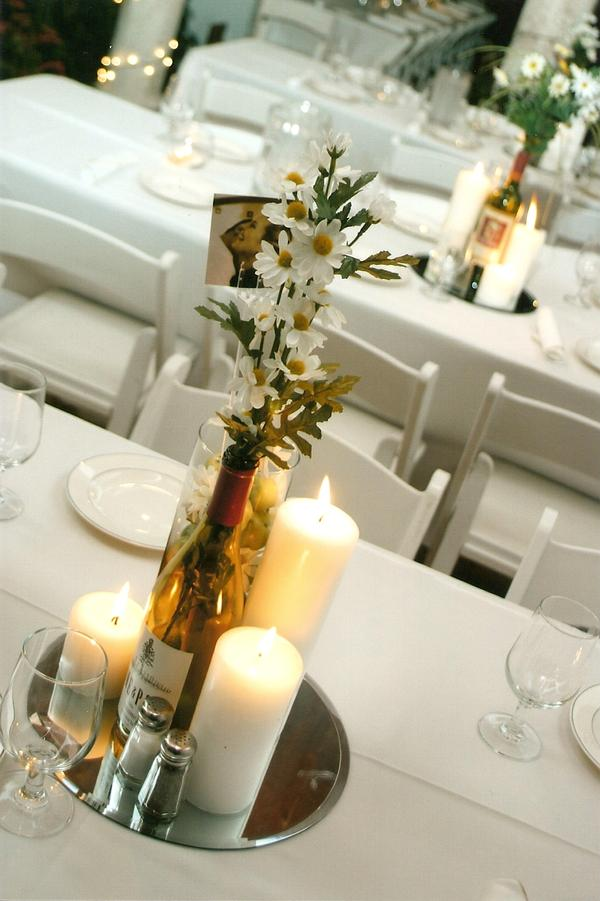 Love This Wine Bottles Grapes And Twig Centerpiece Idea
