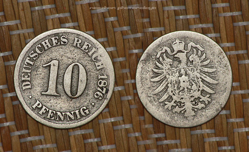 10 pfennig 1876 Germany coin