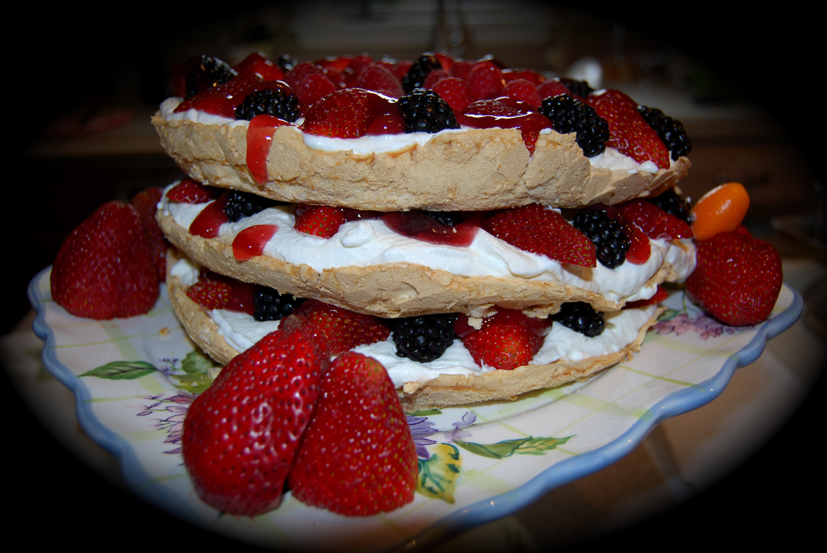 ... /recipes/food/views/Three-Layer-Berry-and-Brown-Sugar-Pavlova-354211