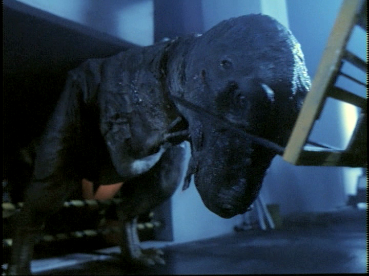 The terrible claw reviews carnosaur 2 1995 for T rex location
