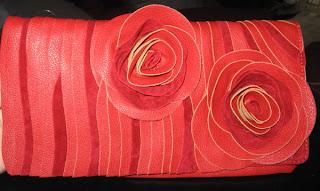 Melie Bianco Floral Foldover Clutch