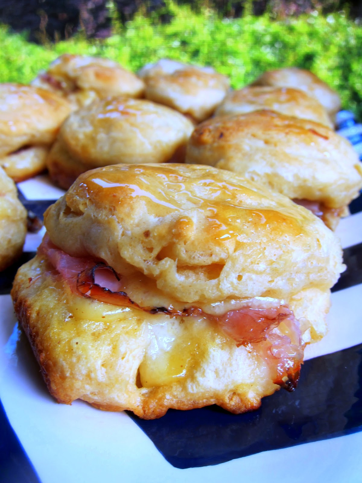 Honey Ham Biscuit Sliders Recipe - refrigerated biscuits, stuffed with ...