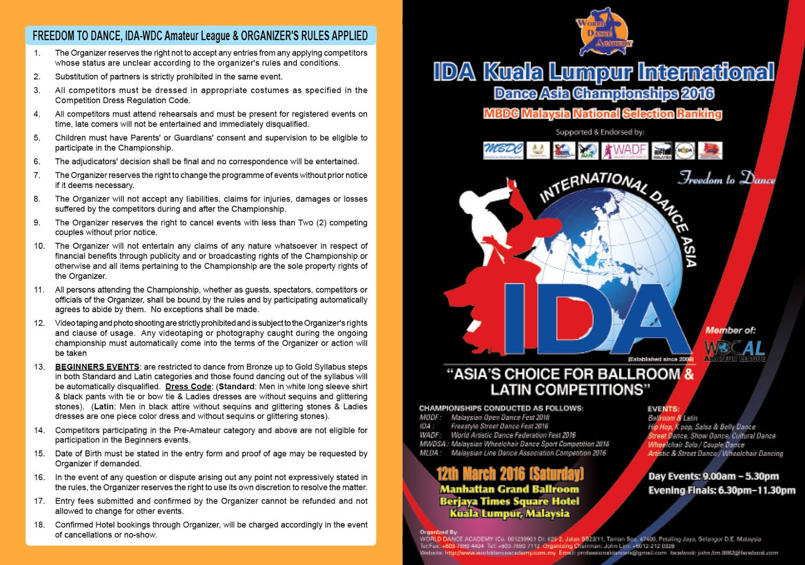 Malaysian asian open dancesport