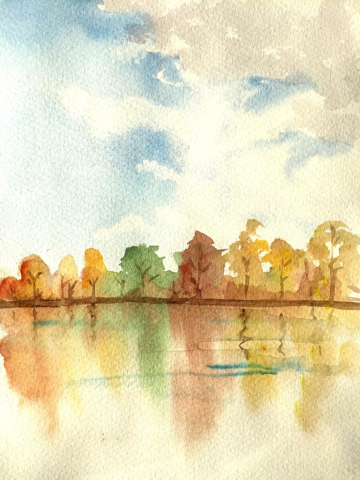 Watercolor Landscape Study by Artmagenta