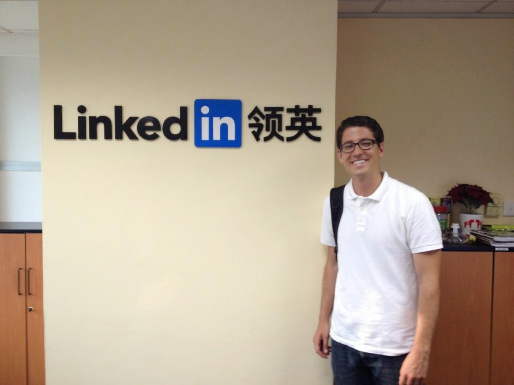Picture at LinkedIn Beijing office