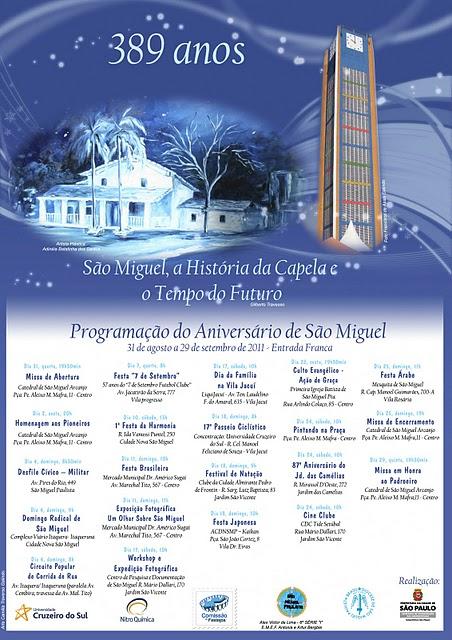 389º ANIVERSÁRIO DE SÃO MIGUEL PAULISTA