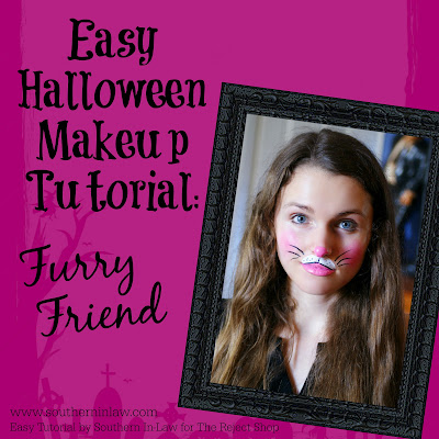 Furry Friend Bunny or Kitten Easy Halloween Makeup Tutorial