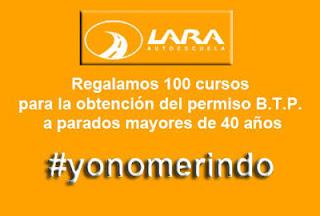 100 cursos gratis para parados Autoescuela Lara permiso BTP