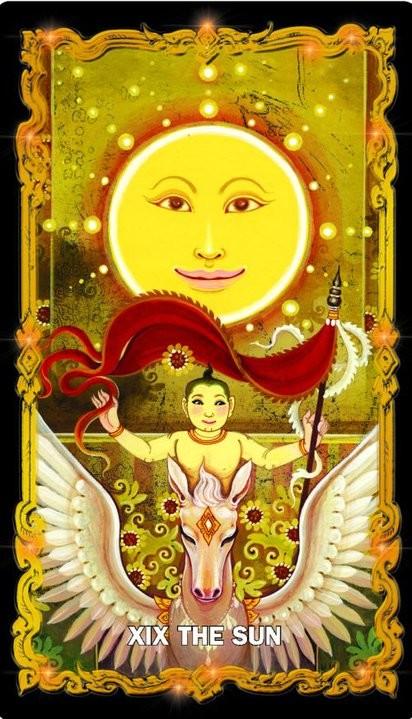 tarot 4HK Four Heavenly Kings Tarot Thai Siamese ไพ่ทาโรต์ไทย จาตุมหาราช ทาโรต์ ทาโร่ ไพ่เดอะซัน The Sun