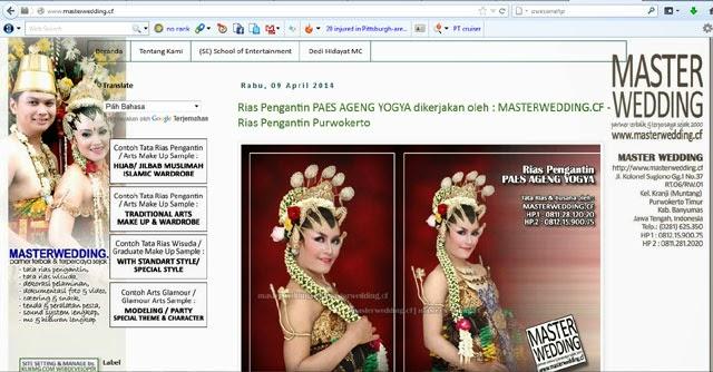 Selamat Datang : www.masterwedding.cf - Rias Pengantin Purwokerto