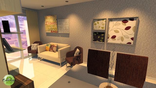 Projeto de Sala de Jantar e Sala de Estar com Móveis Sob Medida