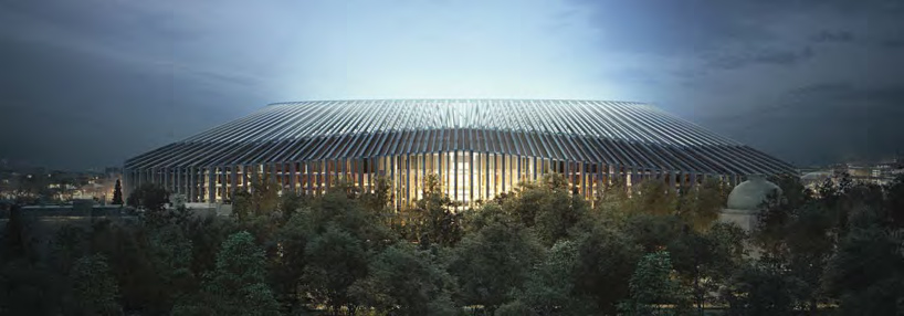 The design of the new stadium for the football club Chelsea