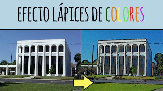 efecto lapices de colores photoshop