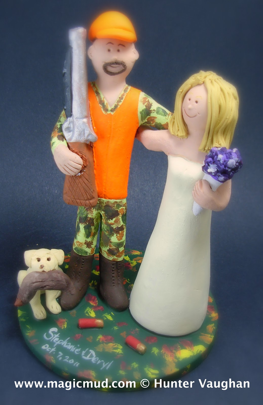 Duck Hunters Wedding Cake Topper