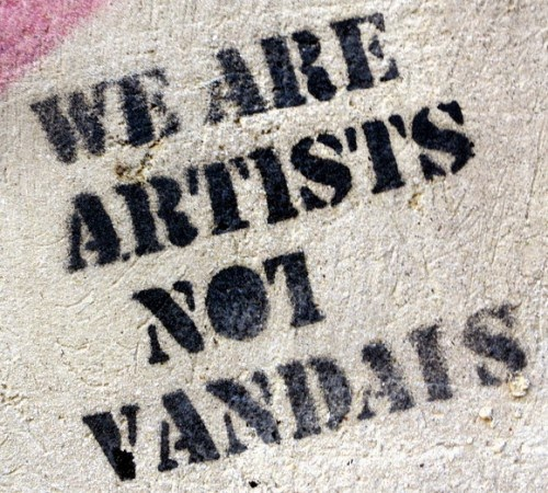 is graffiti an art or vandalism essay The question when does graffiti become art is meaningless graffiti is always vandalism by definition it is committed without permission on another person's property, in an adolescent display of entitlement.