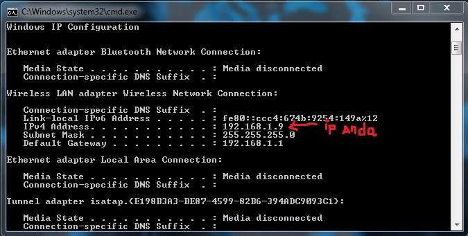 Cara Melihat IP Adress Laptop Komputer Kita