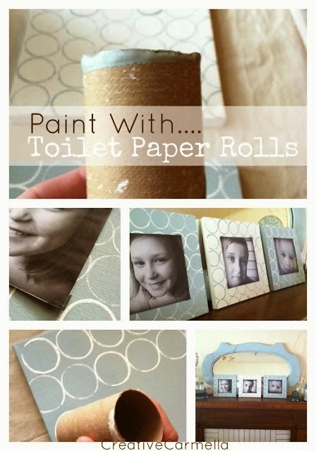 Kids DIY toilet paper roll photo frame
