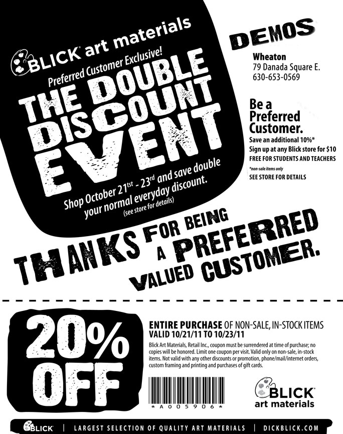 Dick blick coupon code