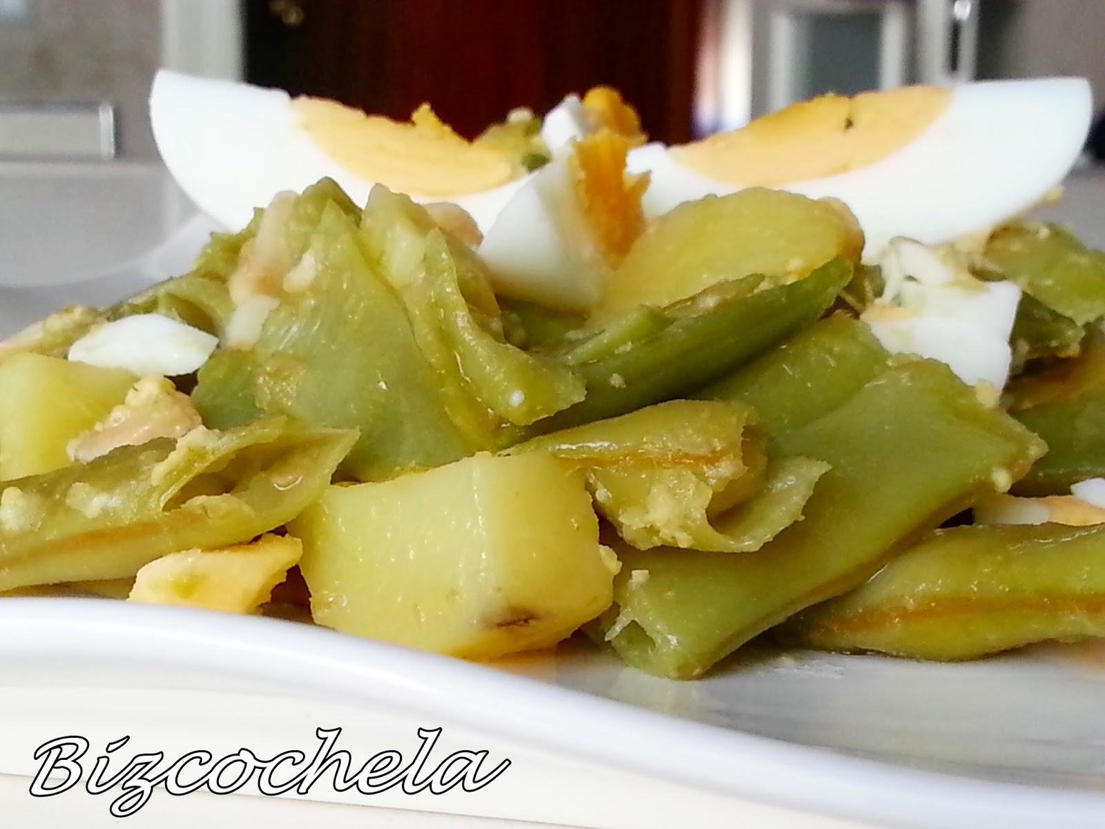 Judias verdes con patatas for Cocinar judias verdes de bote