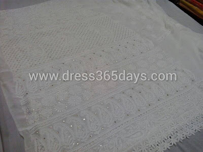 Chikankari Emboridery with Silver Mukesh work