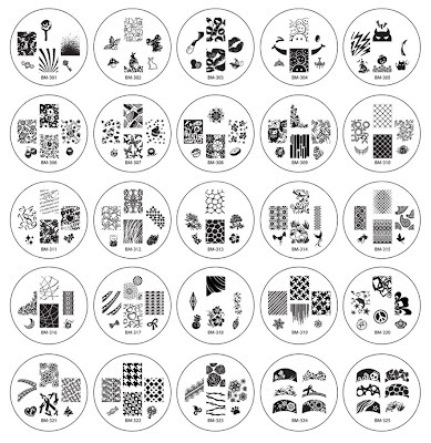 bundle monster nail art stamping plates 2012