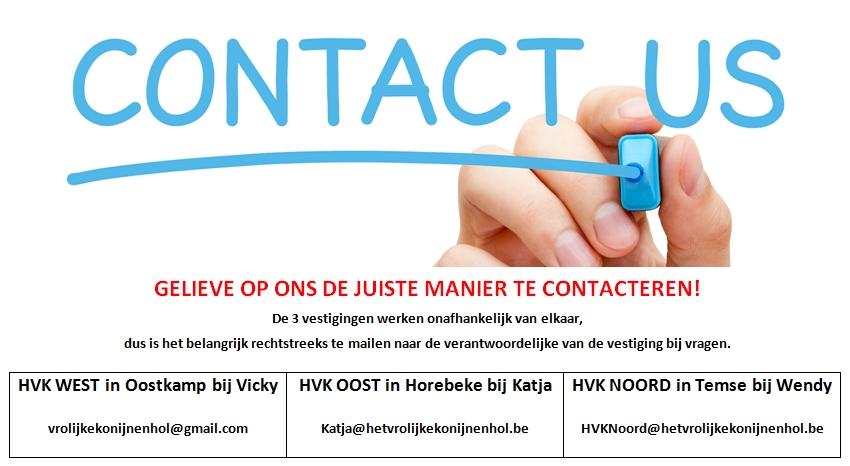 Contacteer ons op de juiste manier!