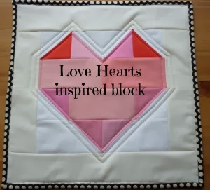Love hearts inspired block tutorial