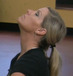 Neck stretch exercise to reduce double chin