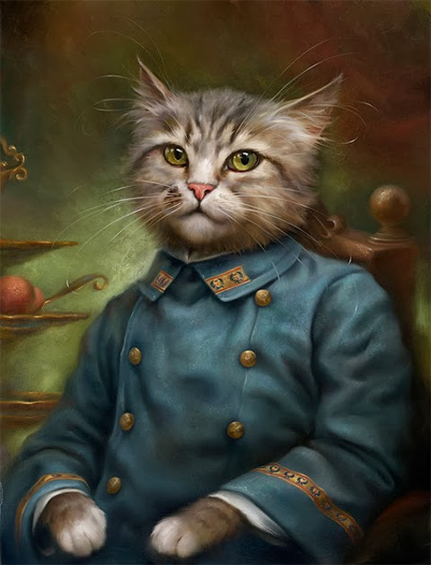 King Cat Paintings by Eldar Zakirov
