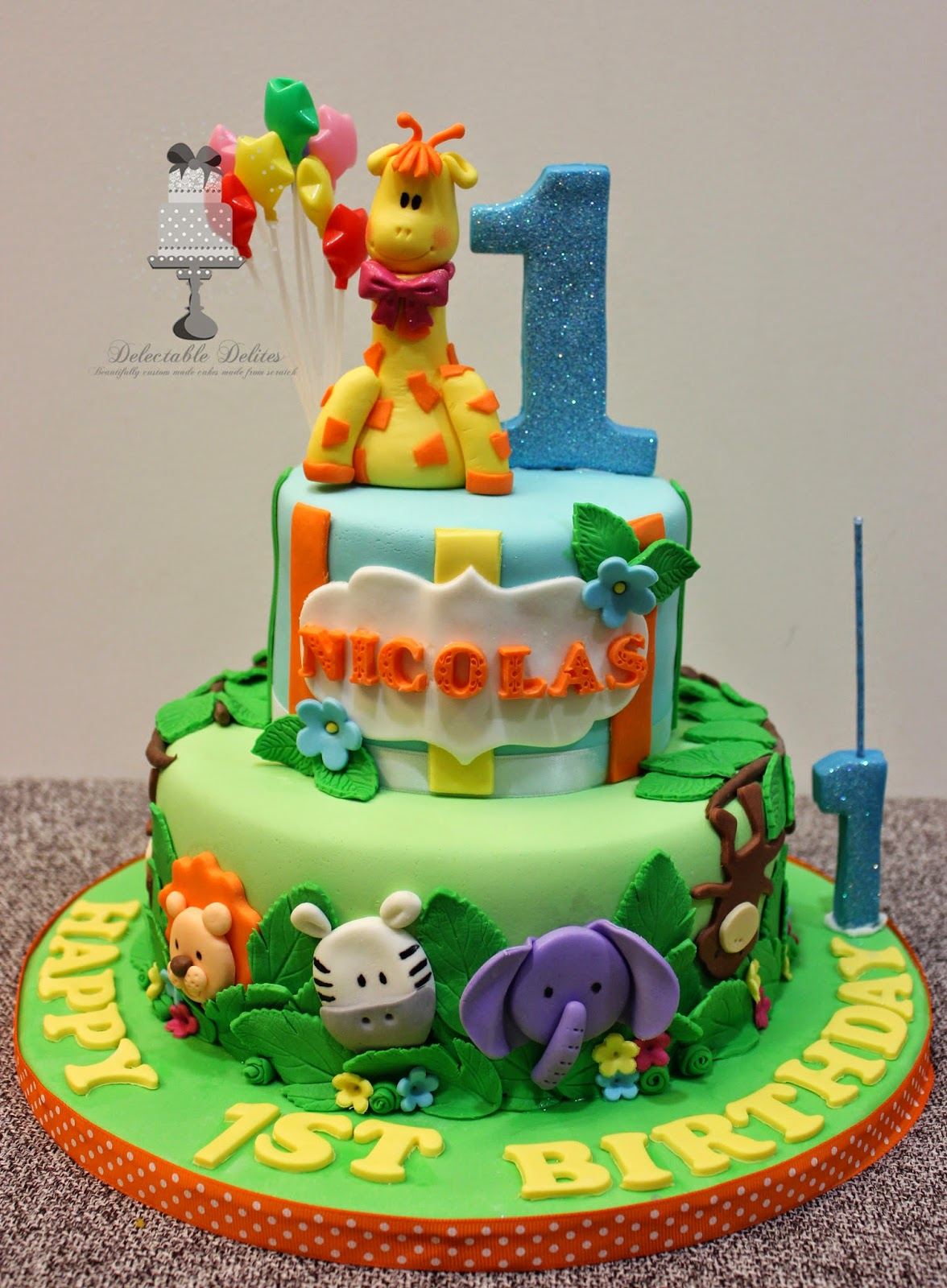 Delectable Delites Safari Theme For Nicolass 1st Birthday