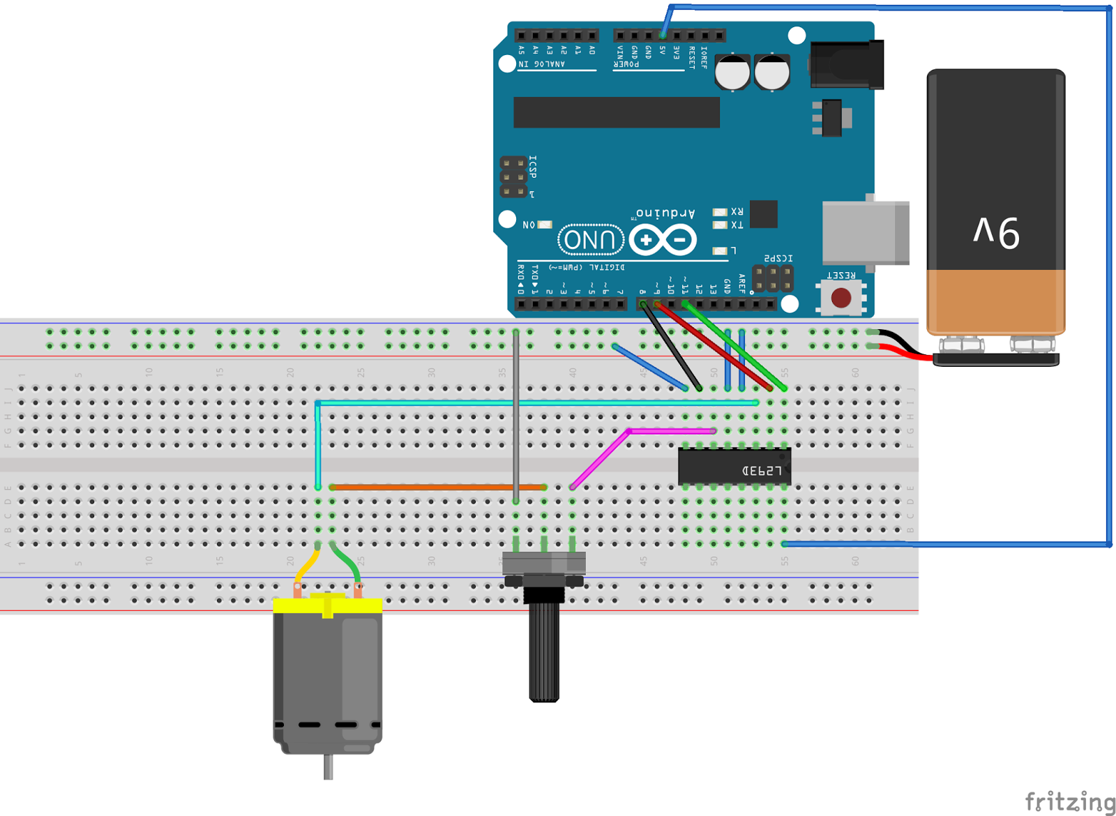 Arduino Tutorial #7 - How to use the L293D Dual H
