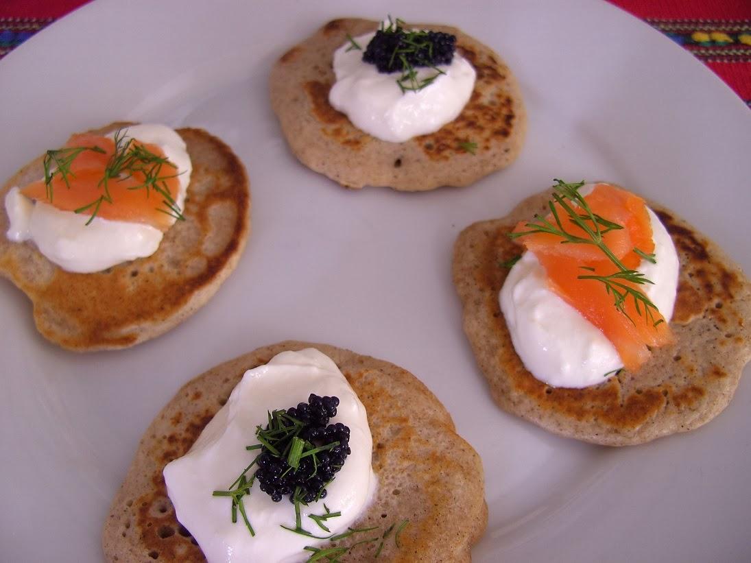 Salmon And Caviar Blini Recipes — Dishmaps