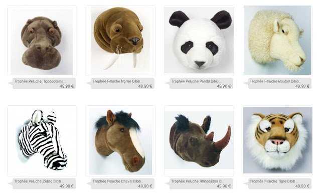 soft wild animal wall mounts