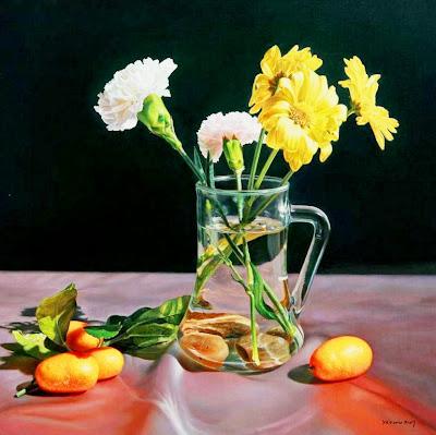 pintura-bodegon-floreros
