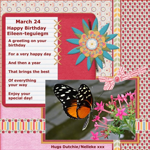 March 24 -2016 - Happy Birthday Eileen - ( teguiegm