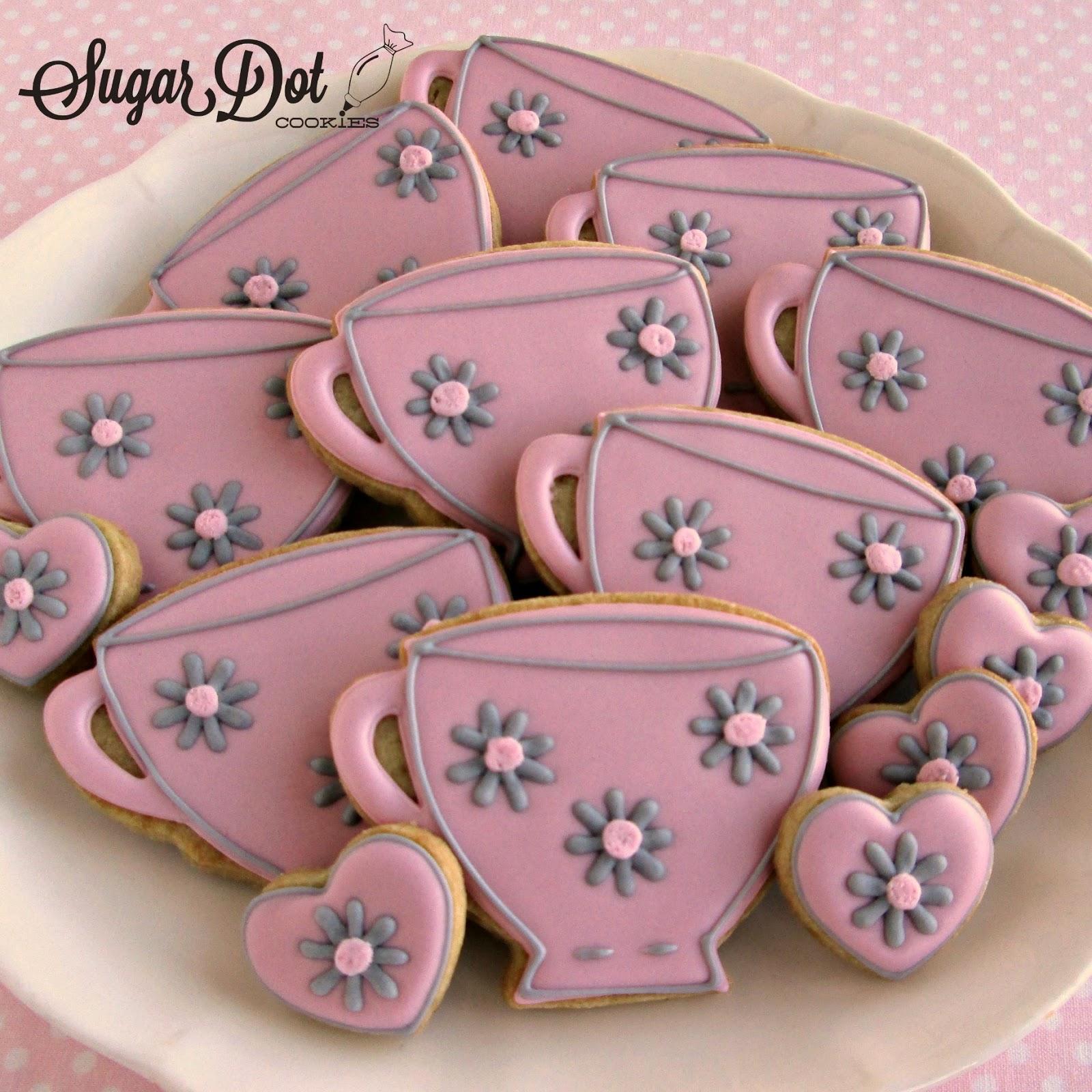 Sugar Dot Cookies: Sugar Cookies for a Tea Party Bridal Shower