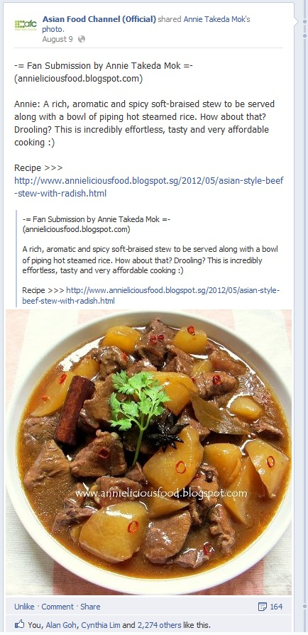 Annielicious food asian style beef stew with radish this post has been featured in asian food channel afc facebook forumfinder Gallery